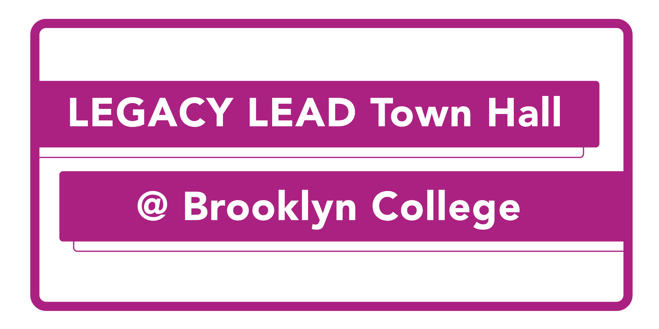 Legacy Lead Town Hall banner
